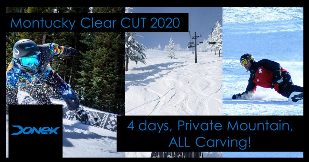 Montucky Clear Cut Event for snowboard carving