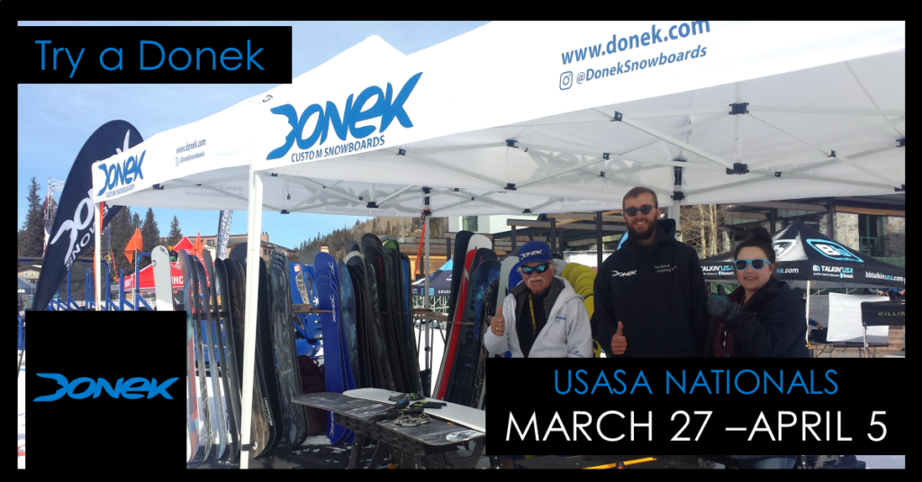 Donek Snowboards at USASA Natonals